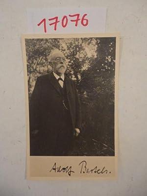 Zeitgenössische Original-Fotografie mit Namensunterschrift: Adolf Bartels: