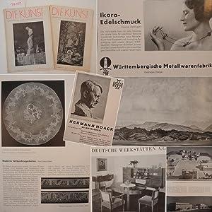 Die Kunst. Monatshefte für Malerei, Plastik und Wohnkultur. 2 Einzelhefte: Nr. 8 und 10 (Mai ...