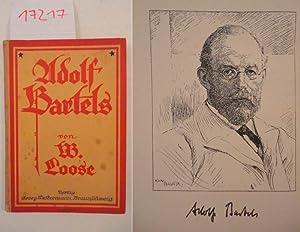 """Adolf Bartels, der Literaturgeschichtsschreiber der Gegenwart. Eine Einführung in die """"..."""