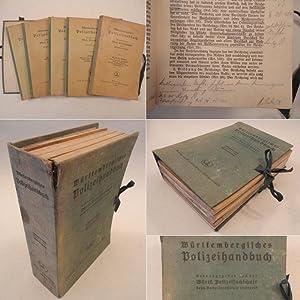 Württembergisches Polizeihandbuch Hefte (I, III, IV, VI,VII): Württembergische ...