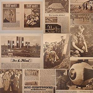 Hilf mit! Illustrierte deutsche Schülerzeitung, 3.Jahrgang 1935, Hefte Nr.7 und Nr.8: NS.-...