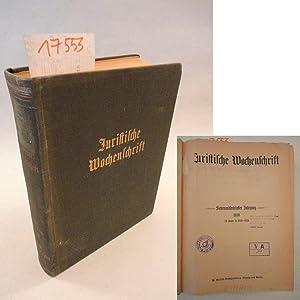 Juristische Wochenschrift, 67.Jahrgang 1939, Band III