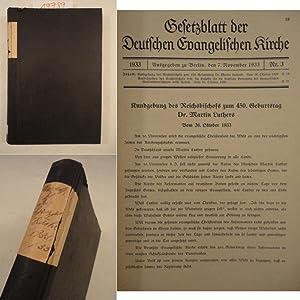 Gesetzblatt der Deutschen Evangelischen Kirche 1933 - 1935: Deutsche Evangelische Kirchenkanzlei (...