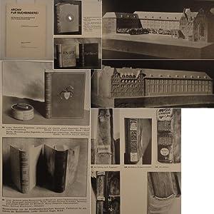 Archiv für Buchbinderei / Zeitschrift für Einbandkunst und Einbandforschung ...