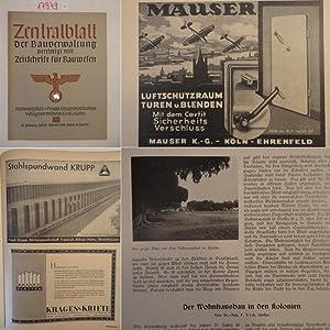 """Zentralblatt der Bauverwaltung, vereinigt mit """"Zeitschrift für Bauwesen"""", mit ..."""