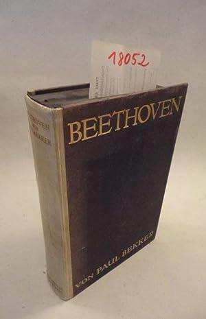 Beethoven * HA L B P E R G A M E N T - Verlagshandeinband: Bekker, Paul: