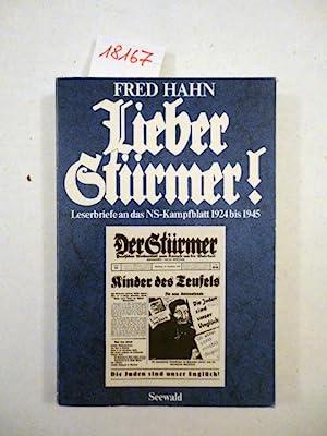 Lieber Stürmer. Leserbriefe an das NS-Kampfblatt 1924: Hahn, Fred: