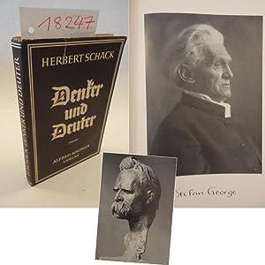 Denker und Deuter. Männer vor der deutschen Wende, mit acht Bildnissen in Kunstdruck * mit ...