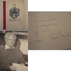 Freundesgabe für Paul Winter zum 29 Januar 1964 * h a n d s i g n i e r t