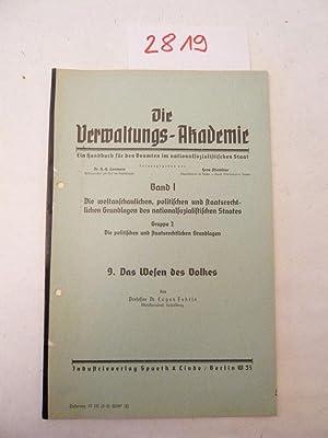 Das Wesen des Volkes: Fehrle, Prof.Dr. Eugen: