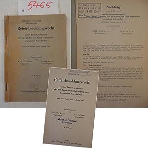 Reichsbesoldungsrecht unter Berücksichtigung der für Baden und: Karl Wilhelm und