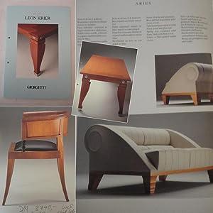 I mobili designati da Leon Krier: Giorgetti: