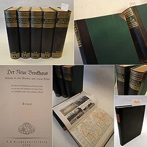 """Der Neue Brockhaus Allbuch in vier Bänden und einem Atlas * mit dem ausklappbarem """"Modell..."""