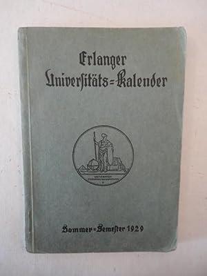 Erlanger Universitäts-Kalender Sommersemester 1929: Universitätsbund Erlangen: