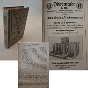 Veredler-Jahrbuch / Deutscher Färberkalender für das Jahr 1943, 52.Jahrgang: Zänker,...