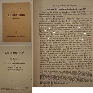 Die Volkskartei / Ein Handbuch: Liebermann von Sonnenberg und Dr. Arthur K�ab:
