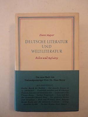Deutsche Literatur und Weltliteratur * mit O r i g i n a l - S c h u t z u m s c h l a g: Mayer, ...