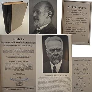 Archiv für Rassen- und Gesellschaftsbiologie einschließlich Rassen- und ...