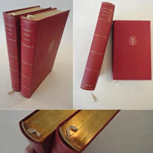 Schillers Werke in zwei Bänden * G A N Z L E D E R - Luxusausgabe in 2 Bänden: Friedrich ...