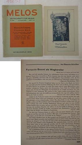 Melos, Zeitschrift für Musik, 13.Jahr, Juli / August, Heft 7 / 8: Heinrich Strobel (...