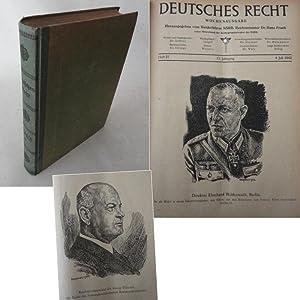 Deutsches Recht, Zentralorgan des NS.-Rechtswahrerbundes Ausgabe A, 12.Jahrgang 1942 2.Band: Frank,...