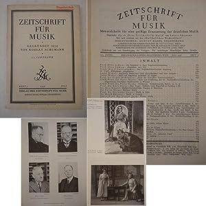 Zeitschrift für Musik. Monatsschrift für eine geistige Erneuerung der deutschen Musik, ...