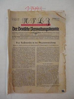 Der Deutsche Verwaltungsbeamte. Nationalsozialistische Beamten-Zeitung * Nr. 14/15 vom 10. ...