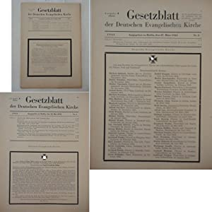 Gesetzblatt der Deutschen Evangelischen Kirche, Jahrgang 1943 Ausgabe A (Reich): Deutsche ...