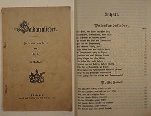 Soldaten-Lieder. Zusammengestellt von H.H.