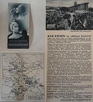 Die Heilbäder in Mitteldeutschland: Sohle, Stahl, Moor * Fremdenverkehrsprospekt: ...