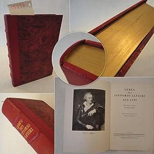 Leben des Vittorio Alfieri, von ihm selbst geschrieben * HA L B L E D E R - VORZUGSAUSGABE: Benkard...