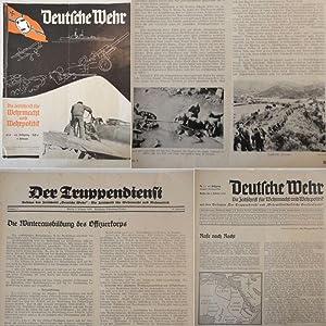 """Deutsche Wehr. Die Zeitschrift für Wehrmacht und Wehrpolitik, mit den Beilagen """"Der ..."""