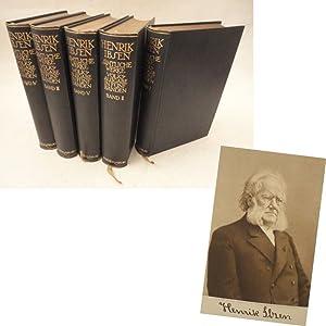 Henrik Ibsen, Sämtliche Werke. Volksausgabe in fünf Bänden, herausgegeben von Julius...