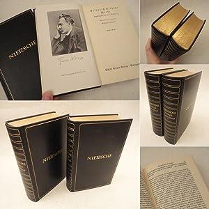 Werke. Auswahl in zwei Bänden, mit einer Einleitung von Gerhard Lehmann * G A N Z L E D E R - ...