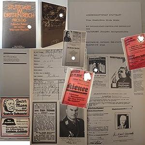 Politische Plakate der späten Weimarer Republik / Völkische Radikale in Stuttgart. ...
