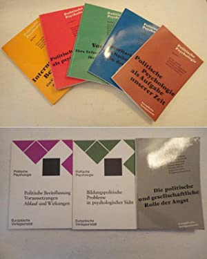 Politische Psychologie, Bände 1-8: Politische Psychologie als: Kurt Aurin /