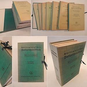 Württembergisches Polizeihandbuch Hefte I-VII (vollständig): Württembergische ...