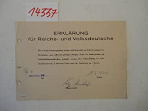 Erklärung für Reichs- und Volksdeutsche