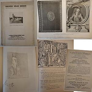 Katalog zur Versteigerung Bibliothek Schloss Hornberg und Beiträge aus anderem Besitz: Josef ...