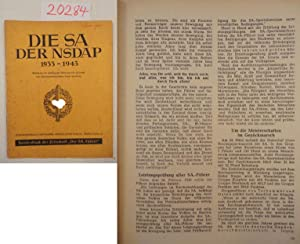 Die SA der NSDAP 1933-1943. Bearbeitet im Auftrag der Obersten SA.-Führung von Obersturmbannf&...