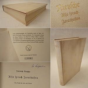 Also sprach Zarathustra. Ein Buch für alle und keinen * G A N Z P E R G A M E N T - H a n d e ...