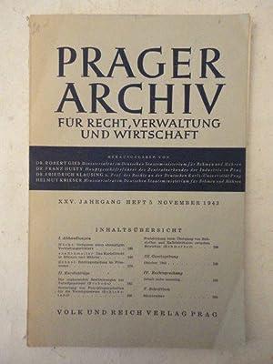Prager Archiv für Recht, Verwaltung und Wirtschaft. XXV. Jahrgang, Heft 5 November 1943: ...