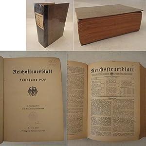 Reichssteuerblatt Jahrgang 1935: Reichsfinanzministerium (Herausgeber):