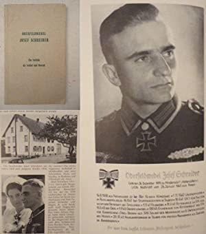 Oberfeldwebel Josef Schreiber, ein Vorbild als Soldat und Mensch. Herausgegeben aus Anlaß der...