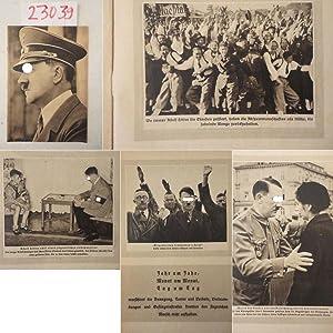 """Verlagsprospekt betr. Sonderausgabe """"Unser Führer"""" / Illustrierter: Zentralverlag der NSDAP"""