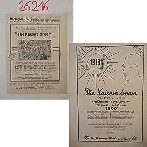 """Faltblatt / Verlagsprospekt """"The Kaiser`s dream"""" und: U. Bodung Verlag:"""