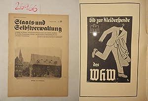 Staats- und Selbstverwaltung. Zeitschrift für Staats- und: Hermann Dersch (Direktor