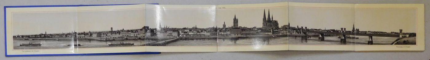 26-seitiges Leporello-Album in Photolithographie mit einer Panoramaansicht: Album von Cöln.