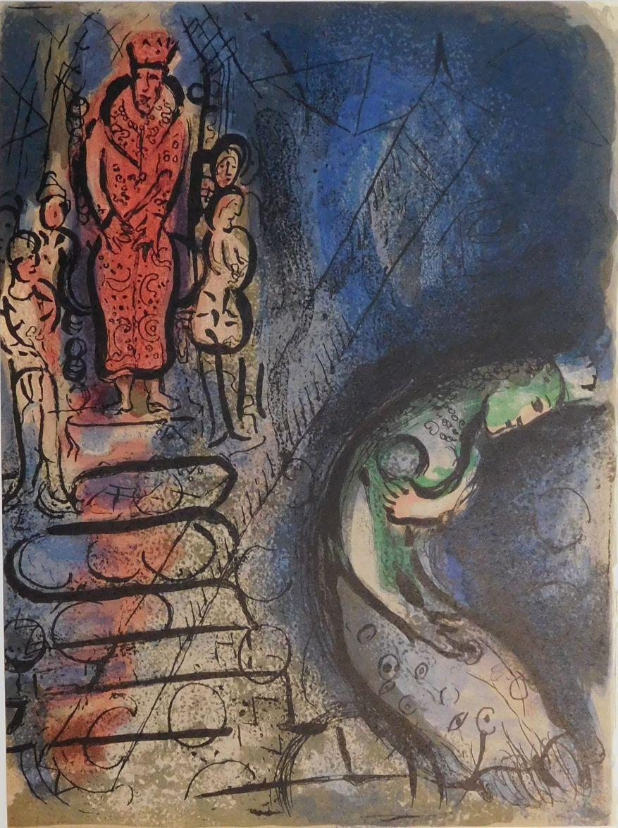 Ahasverus vertreibt Vasthi.: Chagall, Marc