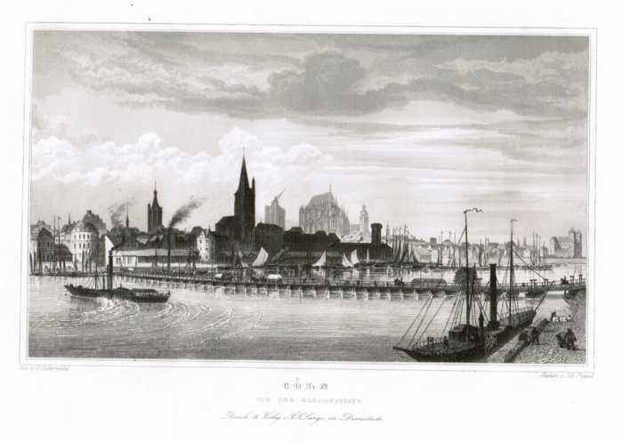 Cöln - Gesamtansicht von der Nordostseite,: Köln